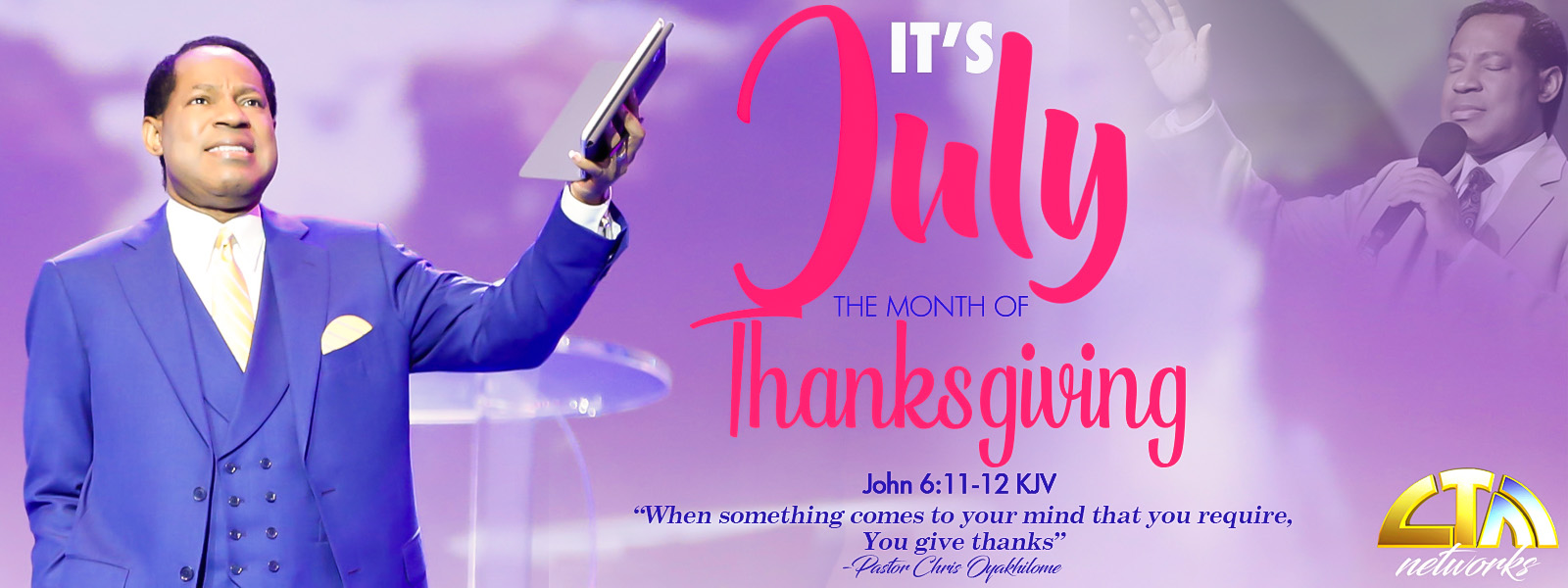 JULY-THE MONTH OF THANKSGIVING