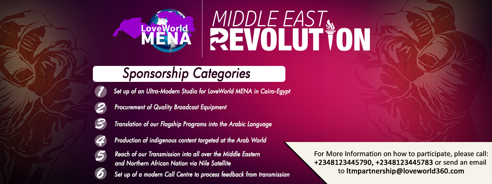 LOVEWORLD MENA REVOLUTION